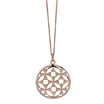 Orphelia Silver 925 Chain With Pendant Big Circle Roseplated  ZH-6037/1