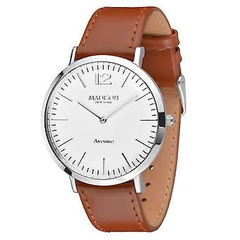MADISON NEW YORK men's watch wristwatch leather G4741E Avenue