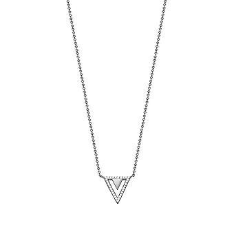 ESPRIT women's chain necklace stainless steel Silver cubic zirconia JW50215 ESNL03115A420