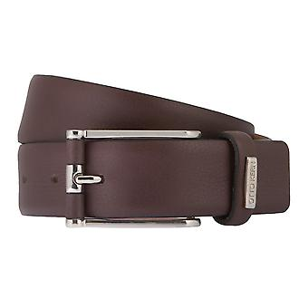 OTTO KERN belts men's belts leather belt chocolate/brown 2782