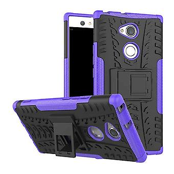 Hybrid case 2 piece SWL robot purple for Sony Xperia XA2 bag case cover protection