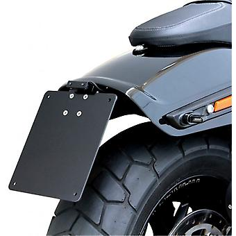Iron optics motorcycle license plate holder + lighting Harley Davidson Fat Bob BJ. 2018 / type 1
