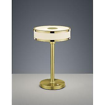 Trio Lighting Agento Modern Brass Matt Metal Table Lamp