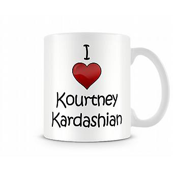 I Love Kourtney Kardashian Printed Mug