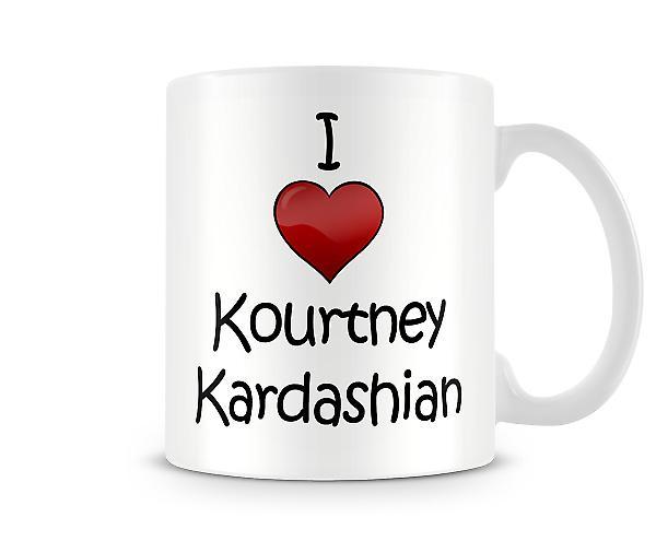 Jeg elsker Kourtney Kardashian trykte krus