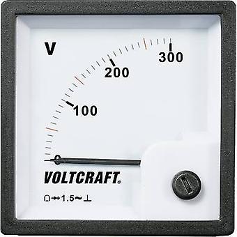 Analogue rack-mount meter VOLTCRAFT AM-72x72/300V 300 V Moving coil