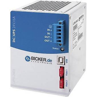 Schiene-Mount USV (DIN) Bicker Elektronik UPSI-2403, 24 V/DC, 144 W
