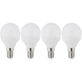 Müller Licht LED EEC A+ (A++ - E) E14 Droplet 3 W = 25 W Warm white (Ø x L) 45 mm x 81 mm 4 pc(s)