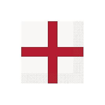 Union Jack Wear England St George Cross Napkins