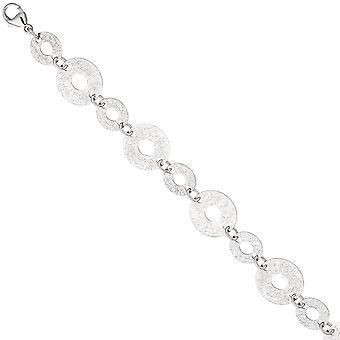 Armband 925 Sterling Silber mit Struktur 20 cm Silberarmband