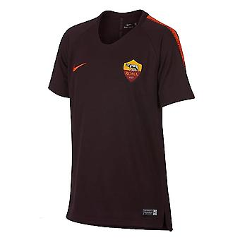 2018-2019 AS Roma Nike Training Shirt (Burgundy) - Kids