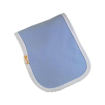 Blue & white trim plain burp cloth