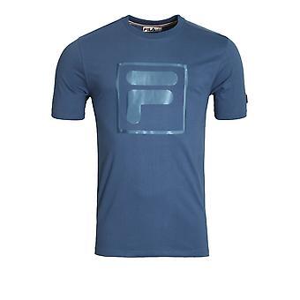 Fila Vintage Alexis Box Logo T-Shirt | True Navy
