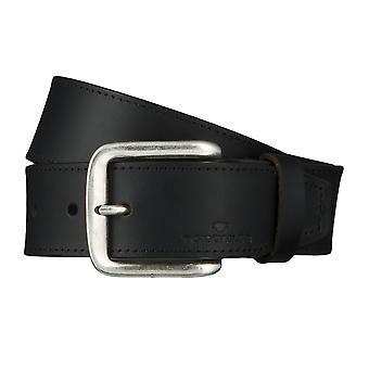 TOM TAILOR belt leather belts men's belts jeans belt black 4628
