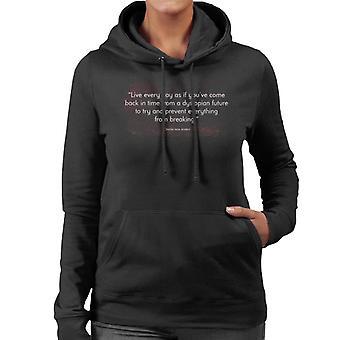Dystopische leven uw leven voorkomt citaat vrouwen de Hooded Sweatshirt