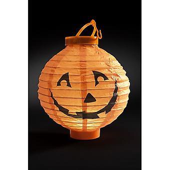 Lys opp LED papir gresskar lanterne, oransje, 20x7x22cm / 8x3x9in