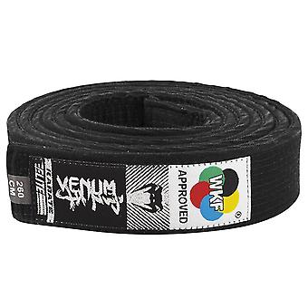 Venum WKF genehmigt Karate Gürtel schwarz