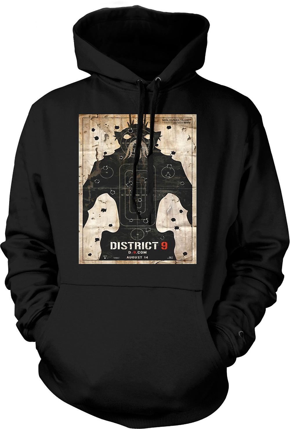 Mens-Hoodie - District 9 - Alien - UFO - B-Movie