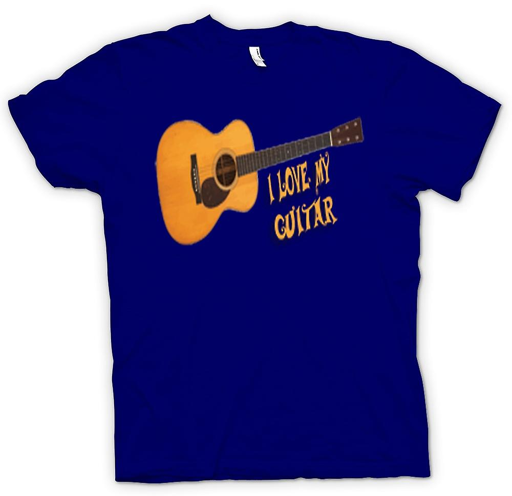 Mens T-shirt - I Love My Acoustic Guitar