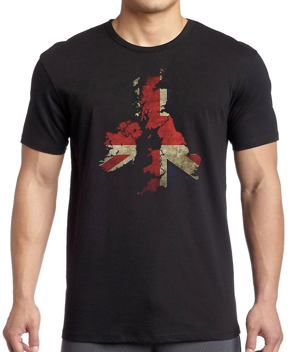 Union Jack Map - Union Jack Kids T Shirt