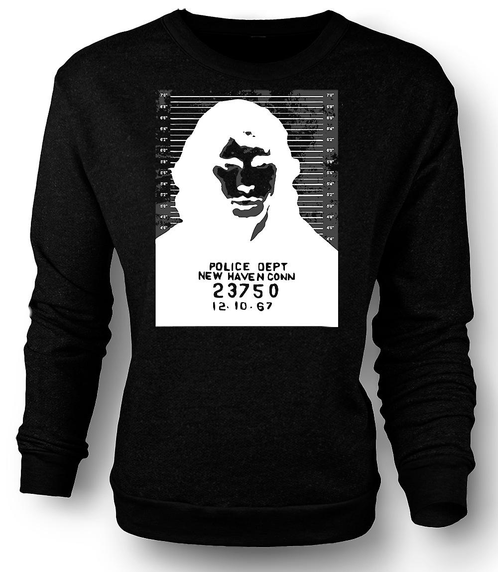 Mens Sweatshirt Jim Morrison - Türen - Fahndungsfoto - Rock