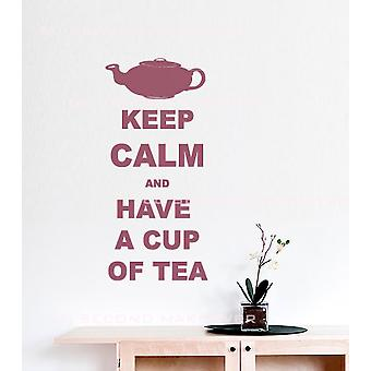 Keep Calm And Have A Cup Of Tea Wall Sticker