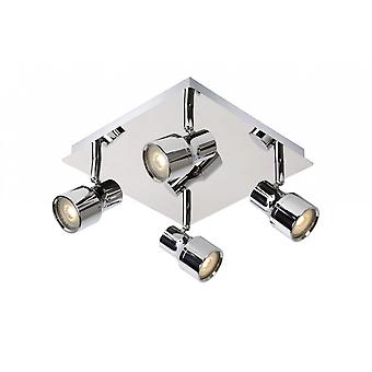 Lucide Sirene-LED Modern Square Metal Chrome Ceiling Spot Light