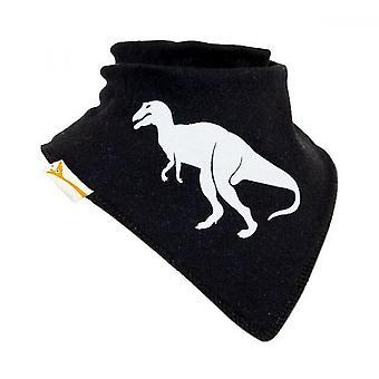 Black & white t-rex bandana bib
