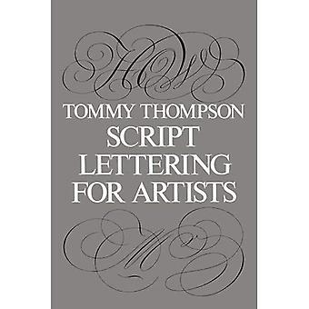 Script bokstaver for kunstnere