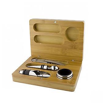 4 Piece Wine Set in Wooden Presentation Case