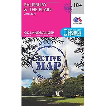 Salisbury & the Plain, Amesbury (OS Landranger Map)