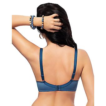 Gorsenia K487 Women's Tatoo Blue Embroidered Padded Underwired Full Cup Bra