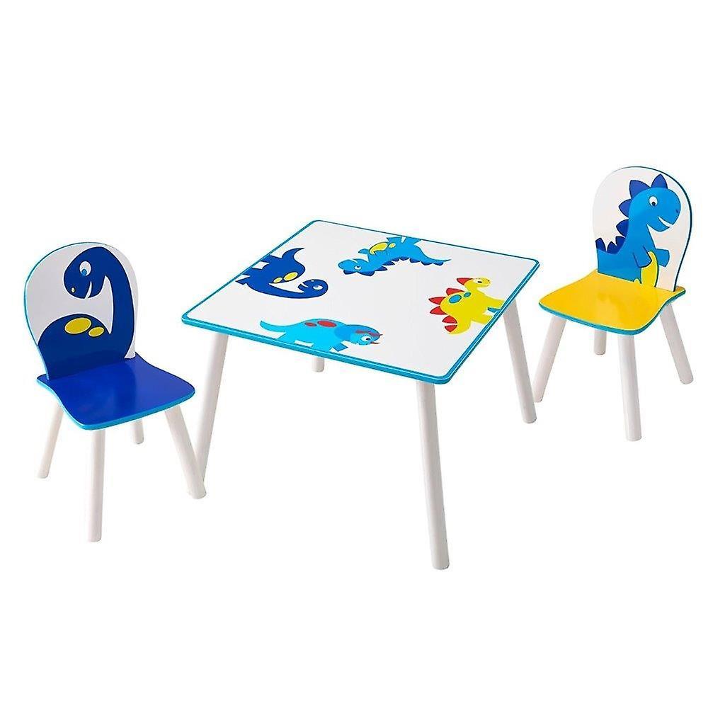 Set Tavolino e 2 Sedie in legno Dinosauri