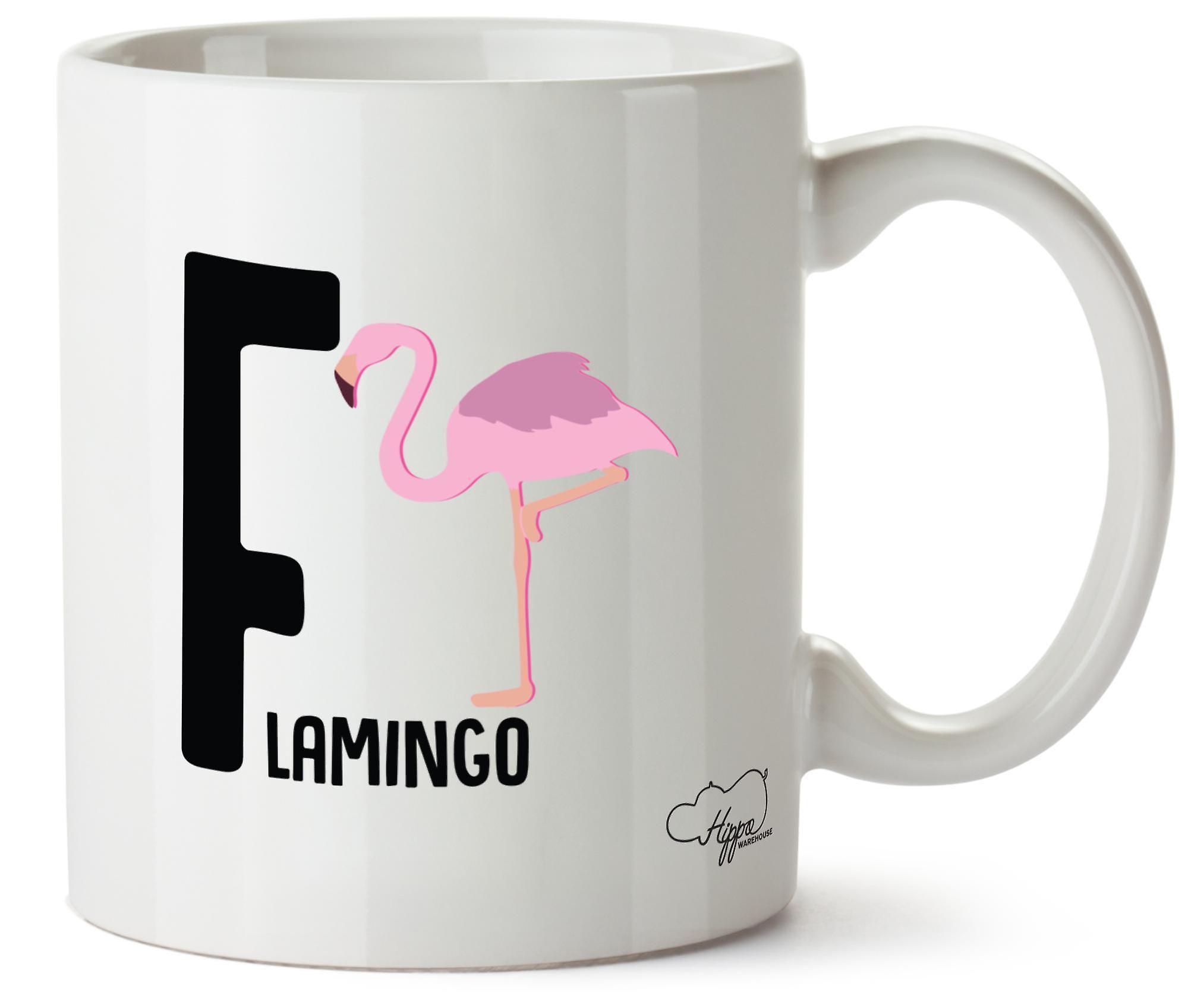 Hippowarehouse Pour Tasse Céramique 10oz Imprimé Alphabet Animal En F Flamingo L4qcAR35j