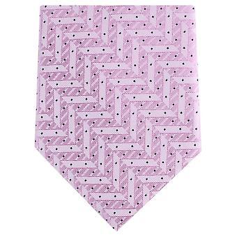 Knightsbridge Neckwear Zig Zag Regular Polyester Tie - Light Pink