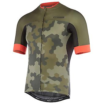 Madison Dark Olive-Chilli Red Hex Camo 2018 Roadrace Apex Short Sleeved Cycling