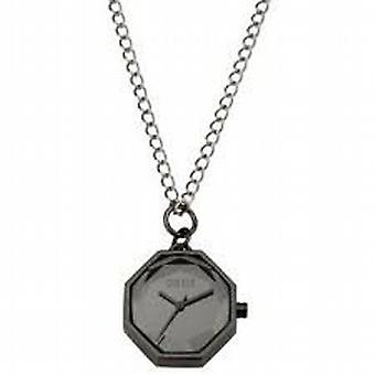 Oasis Octagonal Gun Metal Faceted Ladies Pendant Watch BV36.80OA