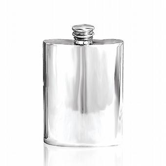 4oz PLAIN FLASK PEWTER - FL255