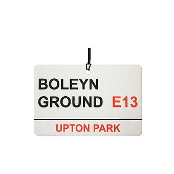 West Ham Utd / Boleyn Ground cartello stradale auto deodorante
