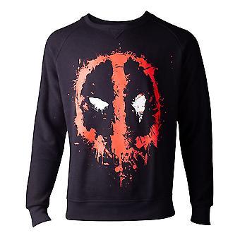 Deadpool tröja droppande ansikte mens tröja svart medium (SW000014DEA-M)