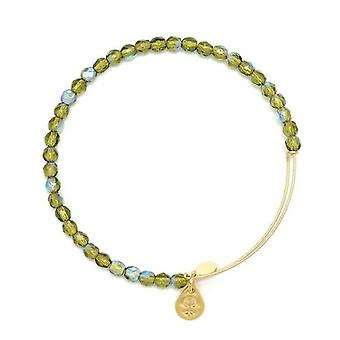 Alex en Ani Moss Rock Candy kralen goud Bangle BBEB172G
