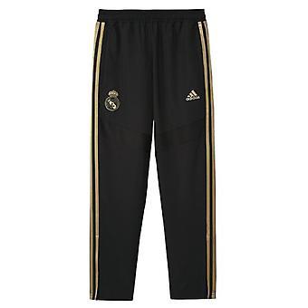 2019-2020 Real Madrid Adidas training geweven broek (zwart)-kinderen