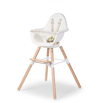 Childhome - Evolu ONE80° Eetstoel en Beugel 2-in-1 - Naturel/Wit