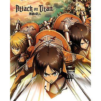 Aanval op Titan één blad Mini Poster 40x50cm