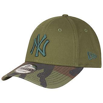 New Era 9Forty Strapback Cap - New York Yankees oliv / camo