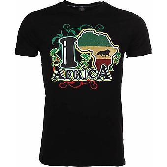 T-Shirt I Love Africa-Black