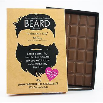 Funny Valentine ' s dzień prezent dla Brodaty mężczyźni Beard Lover prezent czekolada powitanie karty BTQ128