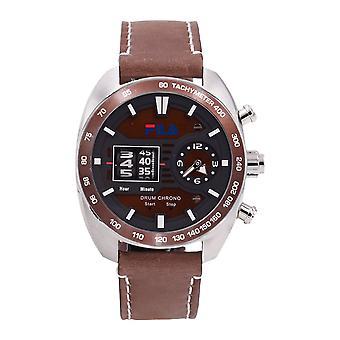 Fila Men's Watch Wristwatch DRUM ROLLER 38-846-003 Leather