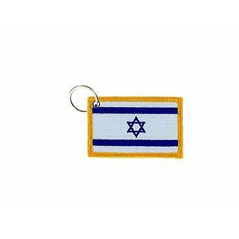 Porte Cle Cles Clef Brode Patch Ecusson Badge Drapeau Israel Israelien