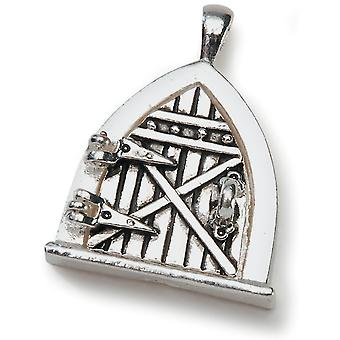 Fairy Door Metal Charm 1 Pkg Antique Silver Fdc 2002